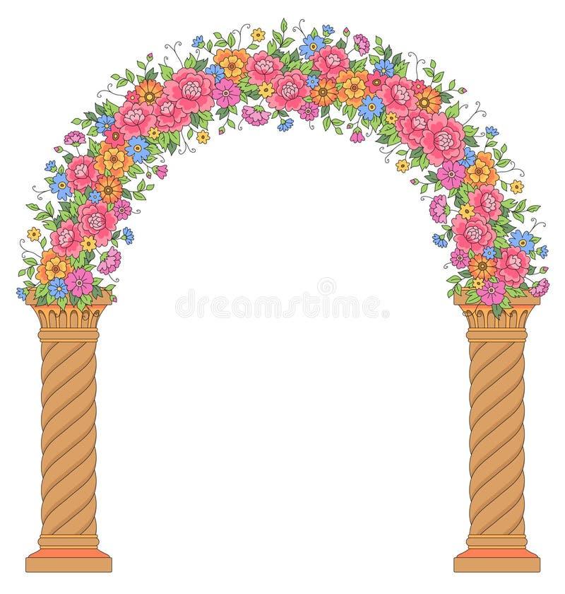 圆的花卉拱道 库存例证