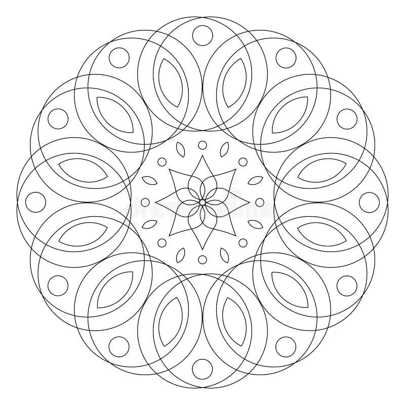 圆的花饰 着色坛场页 皇族释放例证