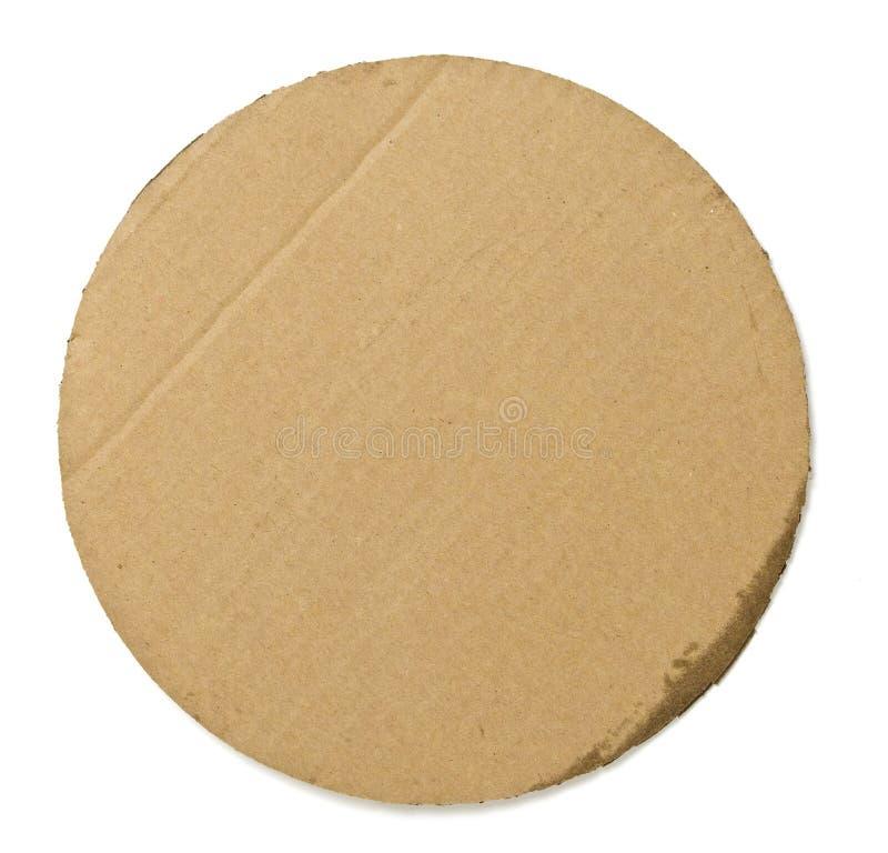 圆的薄饼纸板背景 图库摄影