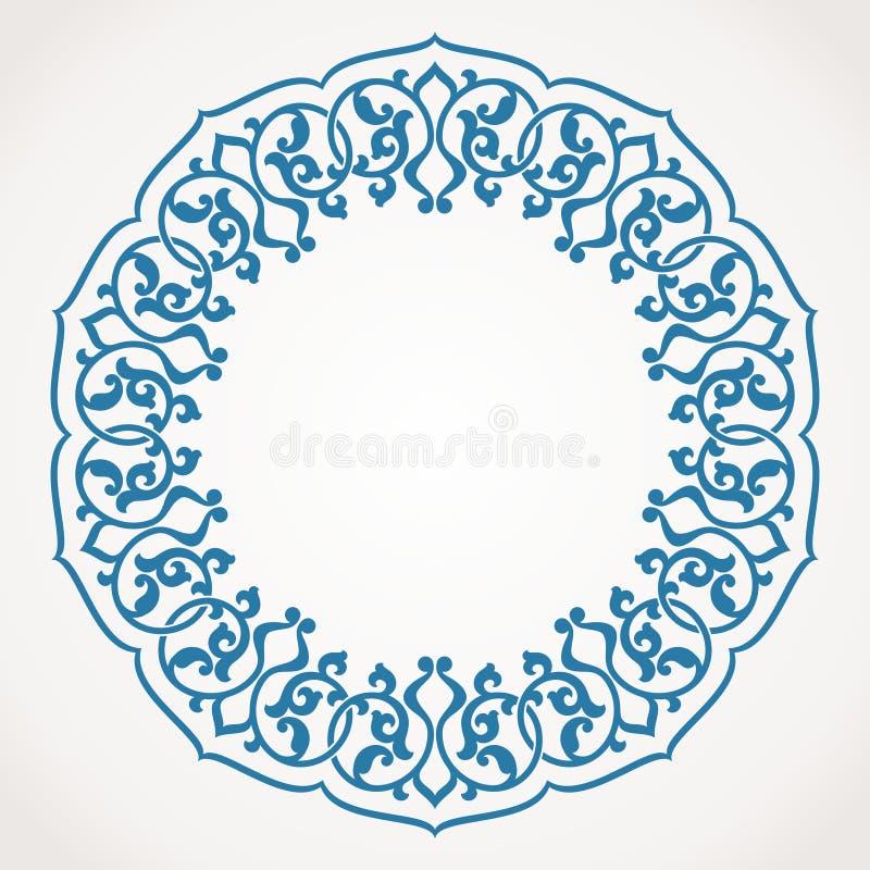 圆的装饰品样式。 向量例证