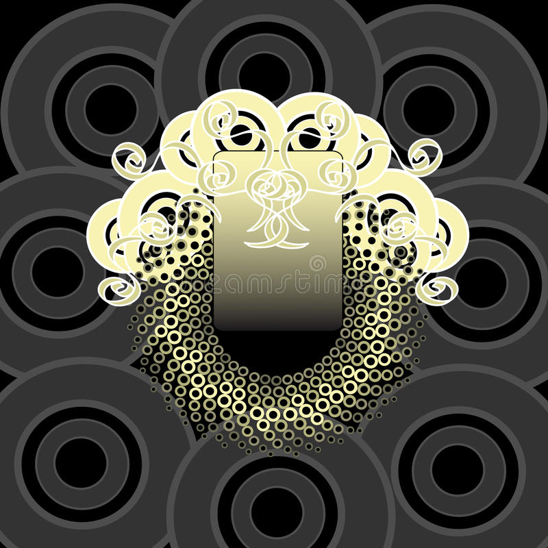 圆的设计例证向量 皇族释放例证