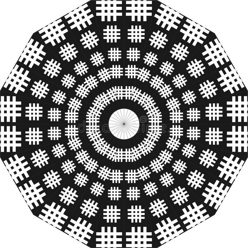圆的设计梯子,象梯子的黑白,圆的设计,回锅碎肉 向量例证