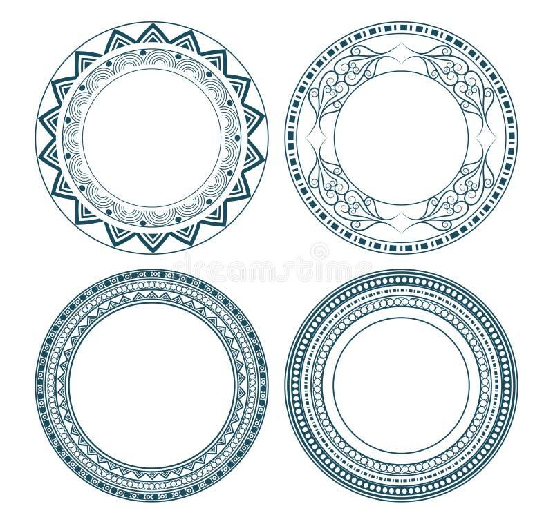 圆的象装饰象征动画片 向量例证