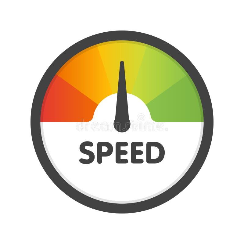 圆的车速表最快速度 传染媒介例证模板 向量例证