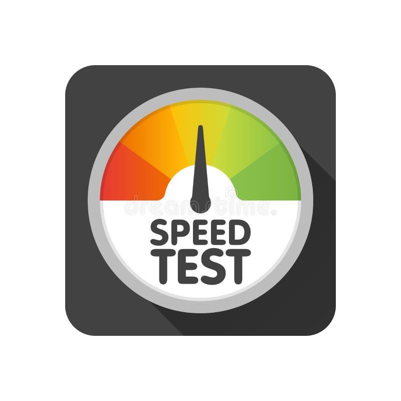 圆的车速表速度测试下载 传染媒介例证模板 皇族释放例证