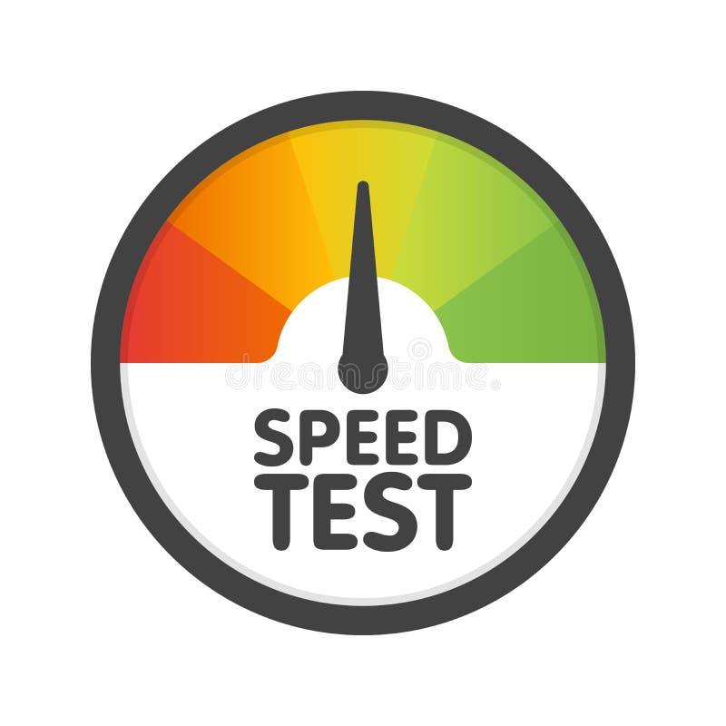 圆的车速表速度测试下载 传染媒介例证模板 向量例证
