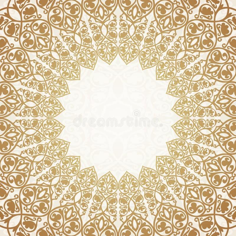 圆的金子豪华样式边界 向量例证