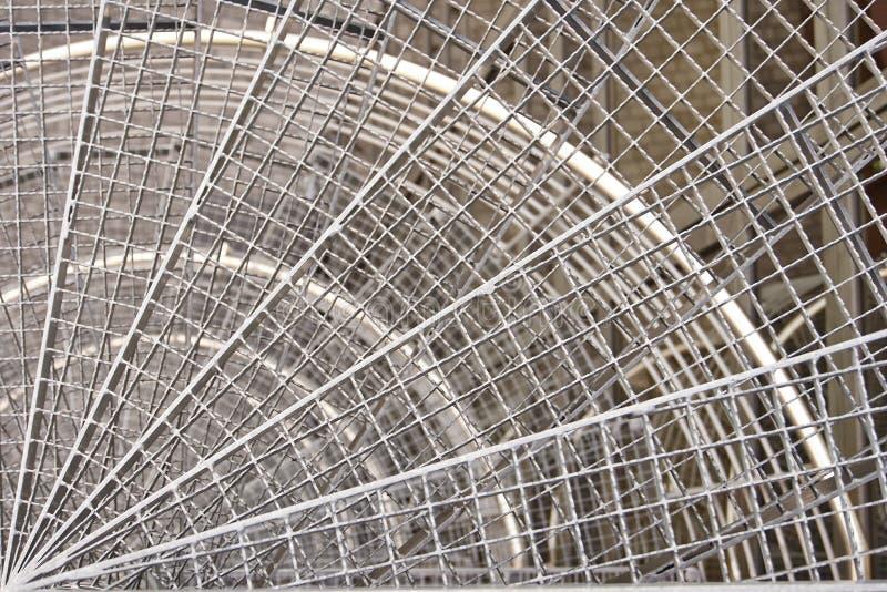 圆的金属台阶 图库摄影