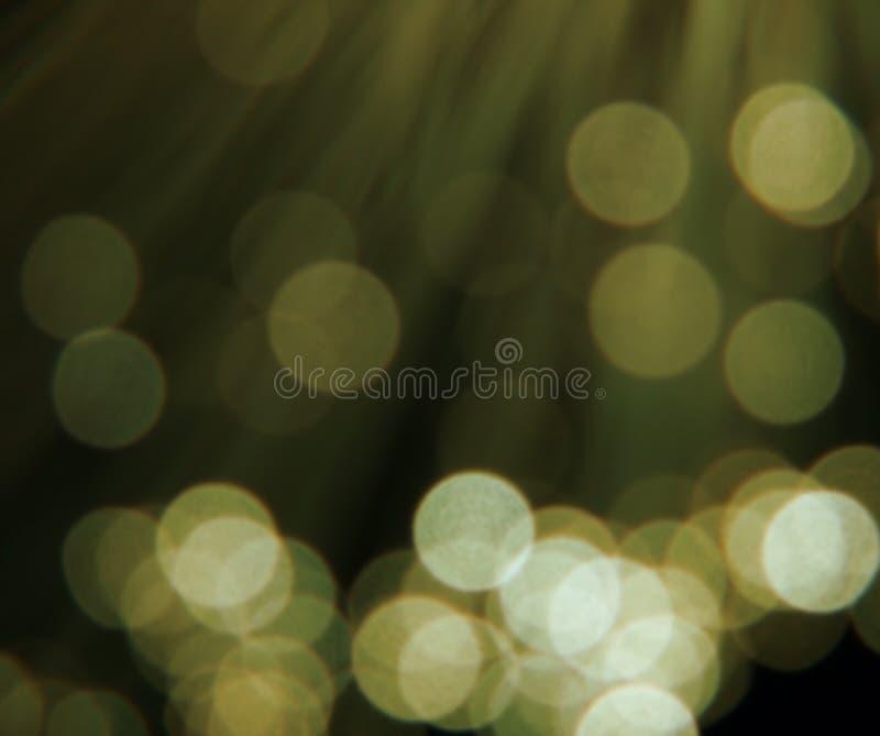 圆的金黄反映 库存照片