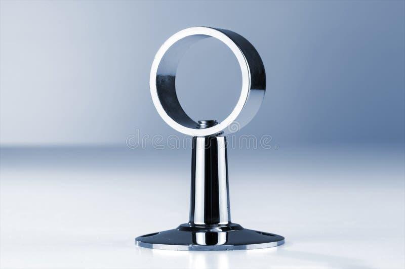 圆的钢镀镍层的钳位 图库摄影