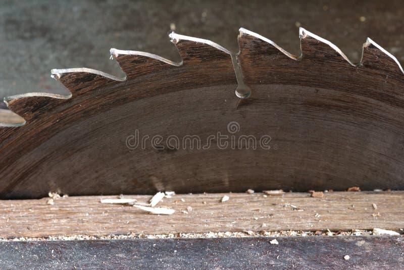 圆的锯 免版税库存照片