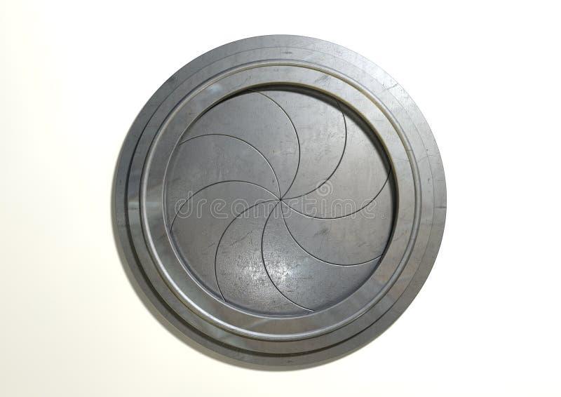 圆的门未来派门 库存图片