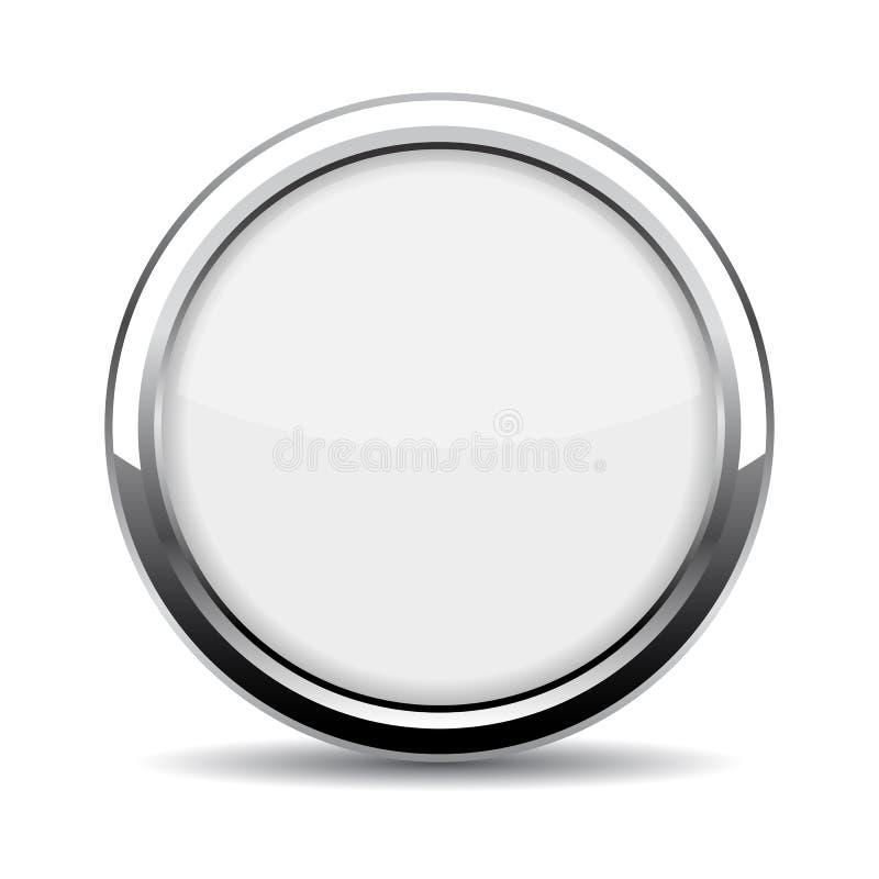 圆的玻璃网按钮 皇族释放例证