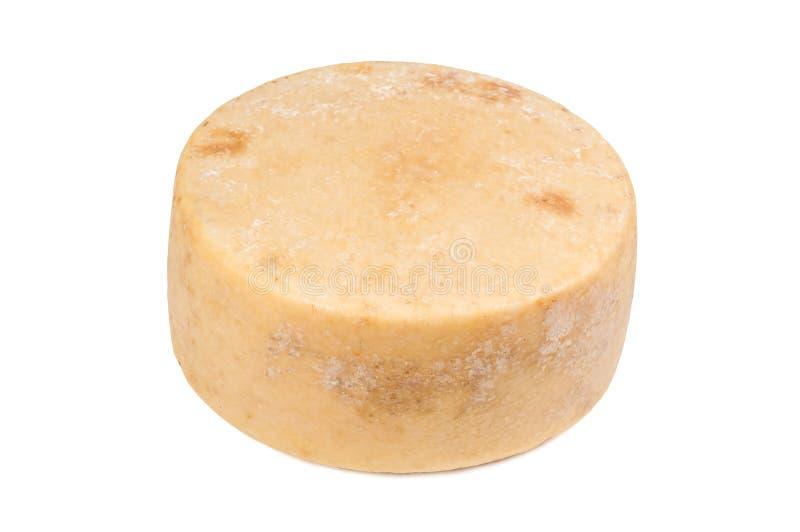 圆的pecorino乳酪 免版税库存图片