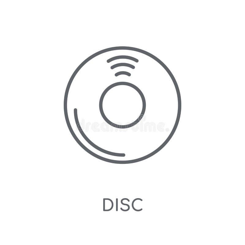 圆盘线性象 在白色后面的现代概述圆盘商标概念 库存例证