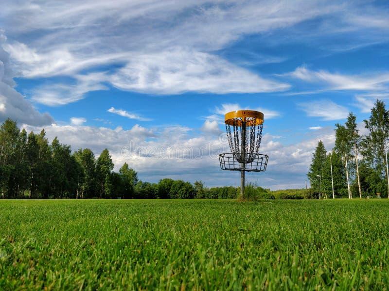 圆盘高尔夫球 免版税库存照片
