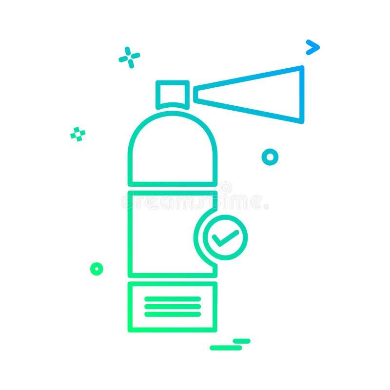 圆筒象设计传染媒介 库存例证