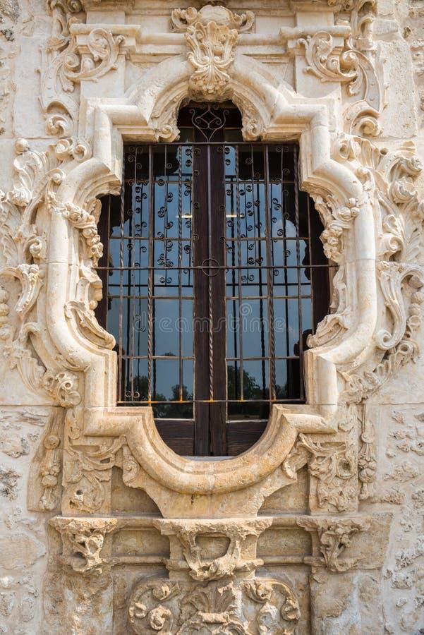 圆花窗使命圣何塞 库存图片