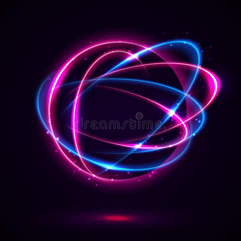 圆透镜火光 向量例证