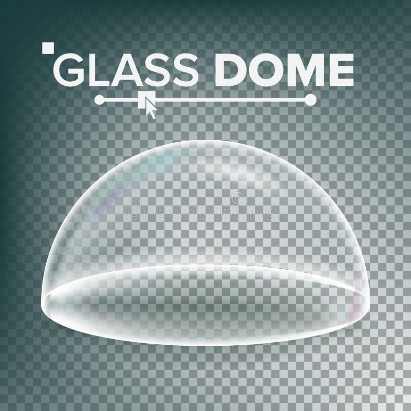 圆顶传染媒介 广告,介绍玻璃设计元素 模板大模型 现实被隔绝的透明 向量例证