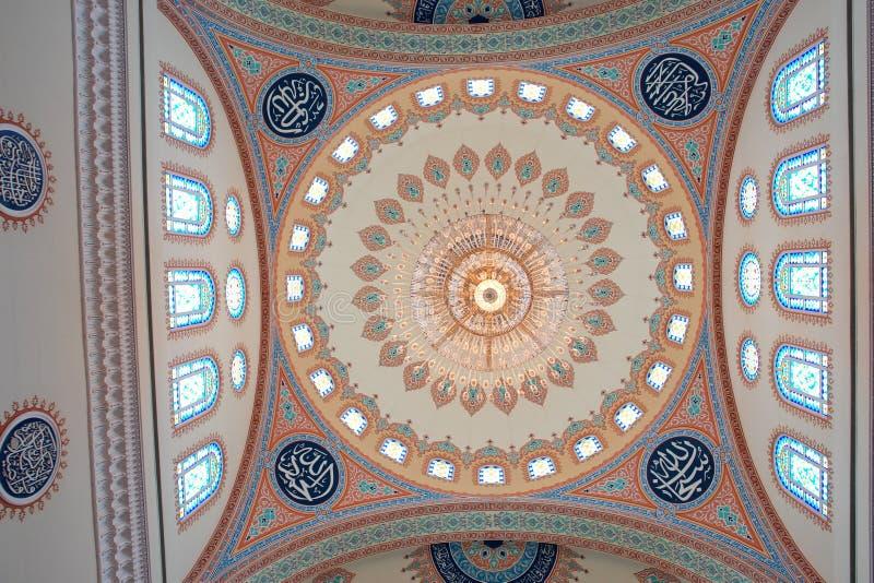 圆顶内部清真寺麝香葡萄阿曼taymoor 免版税库存照片