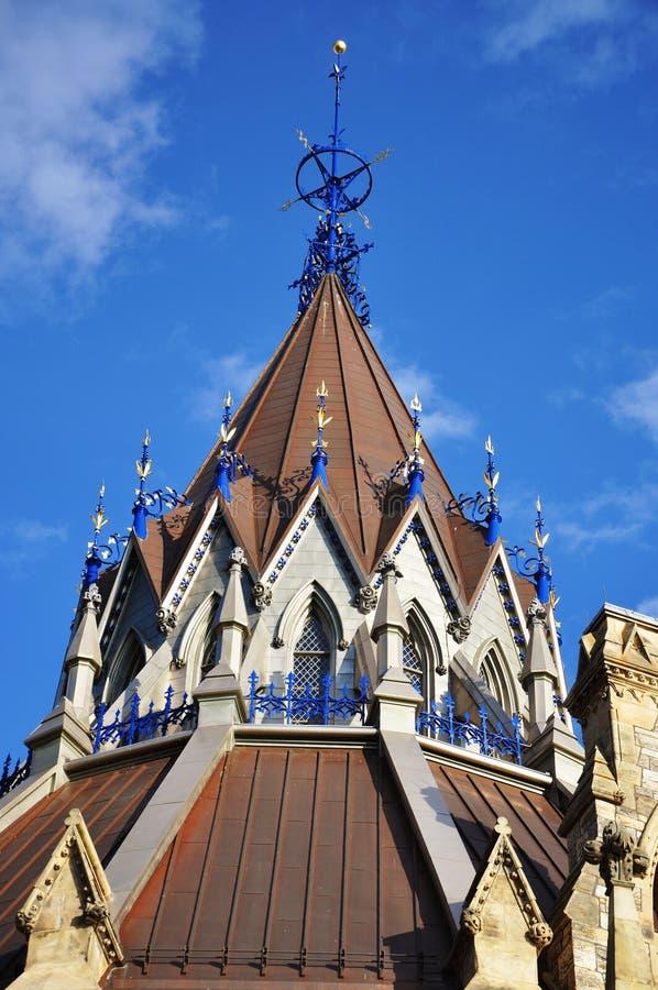 圆顶图书馆渥太华议会 库存图片