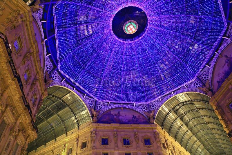 圆顶场所维托里奥Emanuele。 免版税库存图片