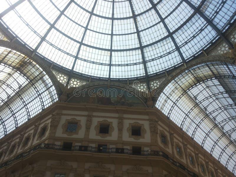 圆顶场所维托里奥Emanuele II,米兰 免版税库存图片