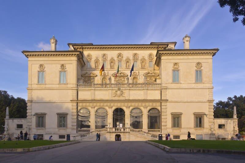 圆顶场所Borghese博物馆在意大利 库存图片