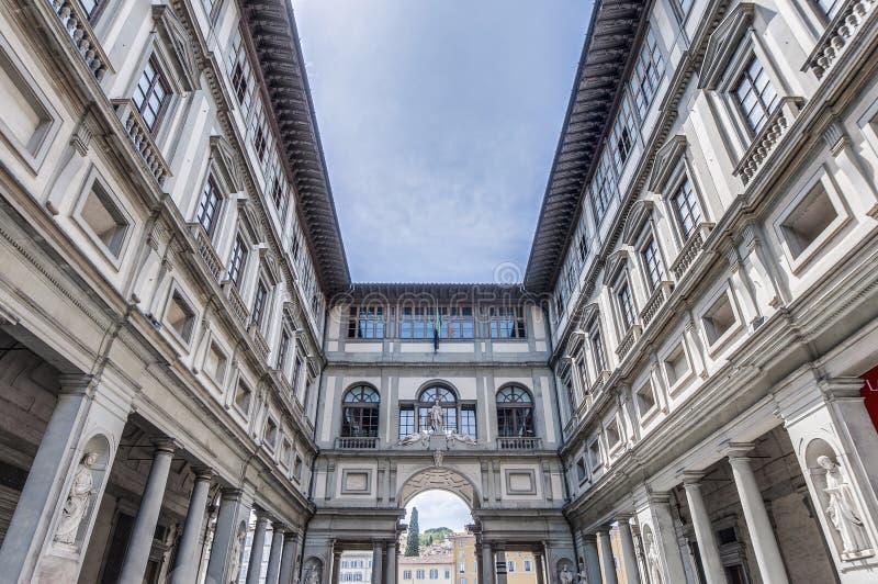 圆顶场所degli Uffizi博物馆在佛罗伦萨,意大利 库存图片