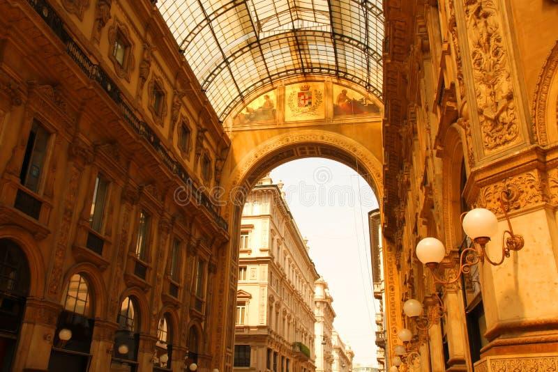 圆顶场所Vittorio Emanuele在米兰 库存照片