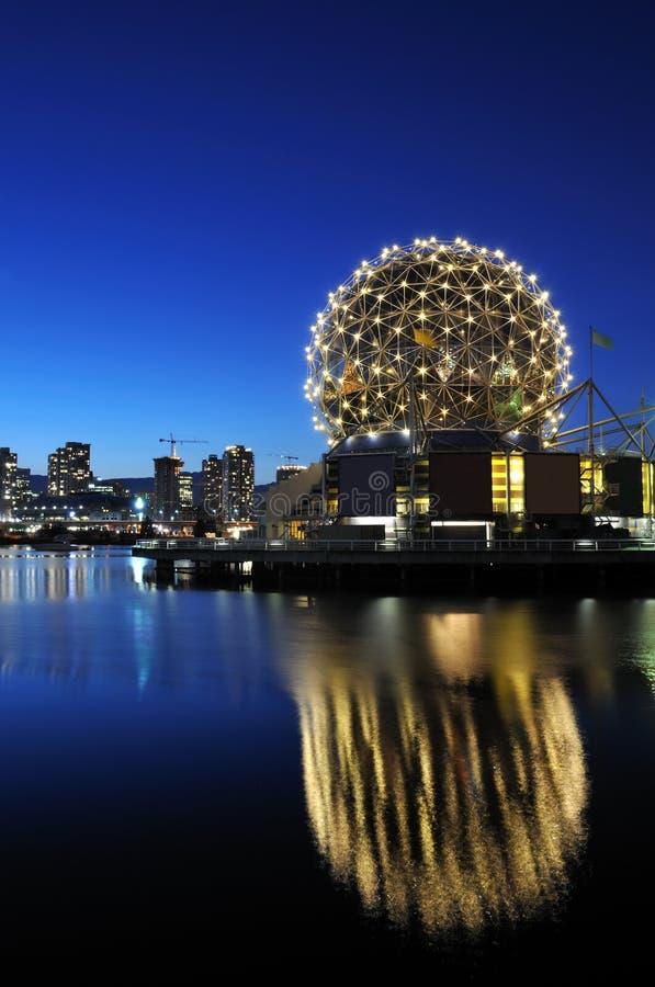 圆顶大地测量学的科学温哥华世界 库存照片