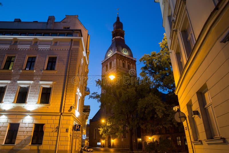 圆顶大教堂 名为Old的中区里加 图库摄影