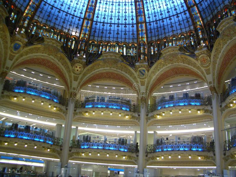 圆顶天花板巴黎 库存照片