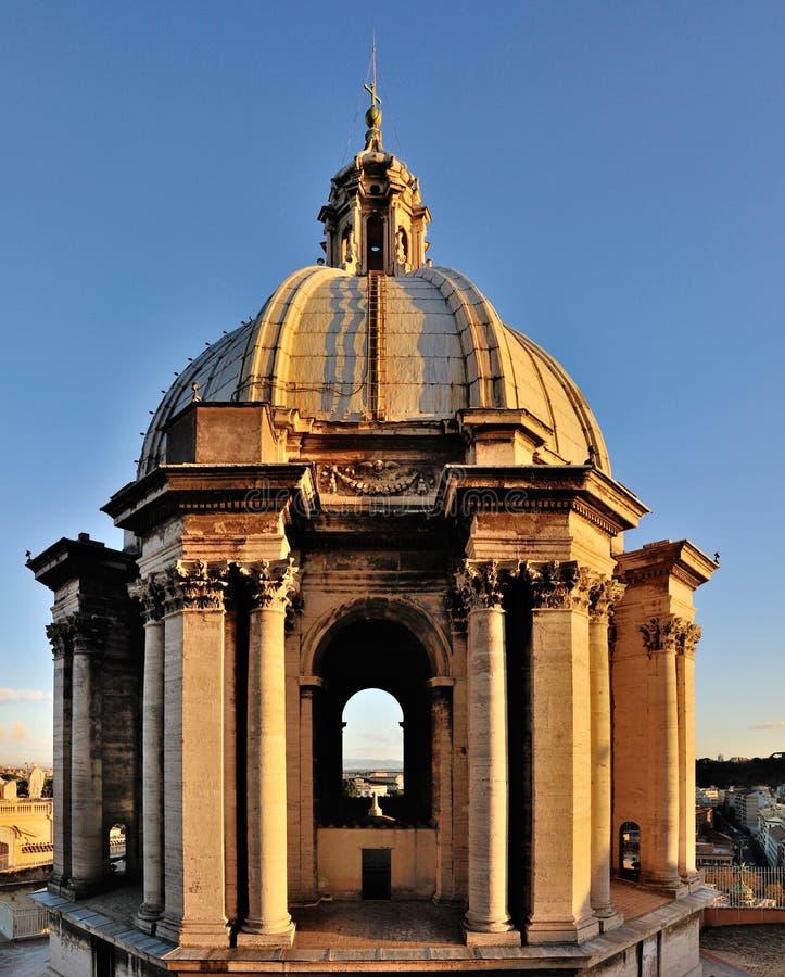 圆顶小彼得・罗马的圣徒 库存图片