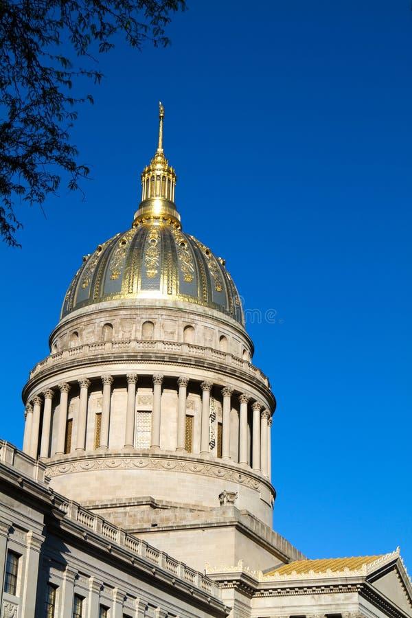 圆顶州议会议场西方的弗吉尼亚 免版税库存照片