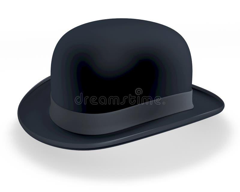 黑圆顶硬礼帽 库存例证