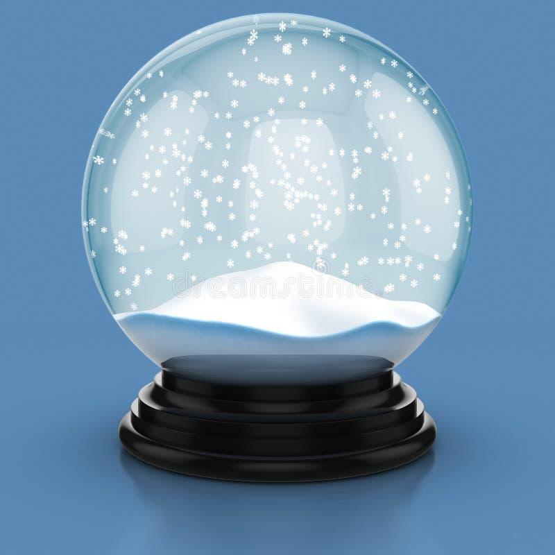 圆顶空的雪 向量例证