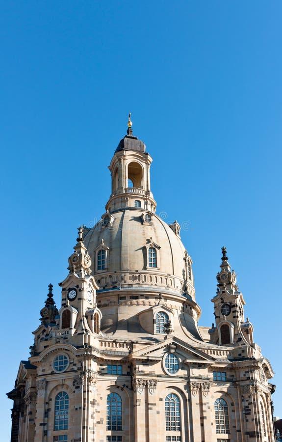 圆顶frauenkirche 免版税库存照片
