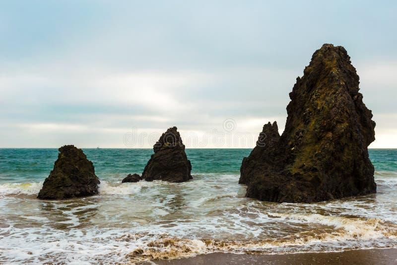 圈地海滩 库存照片