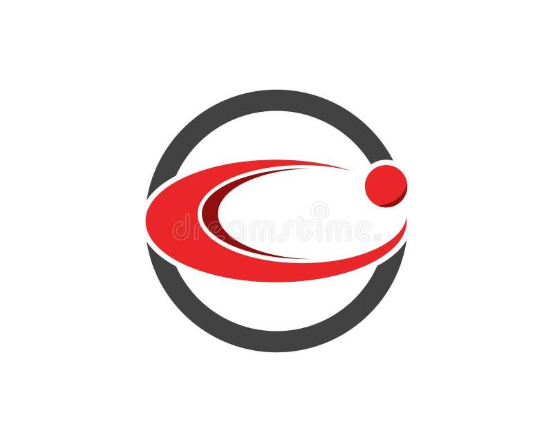 圈子企业Techno商标设计 向量例证