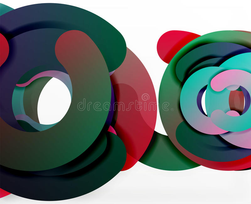 圈子几何抽象背景、五颜六色的事务或者技术设计网的 向量例证