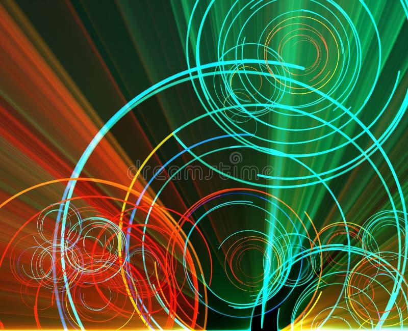 圈子发光 向量例证