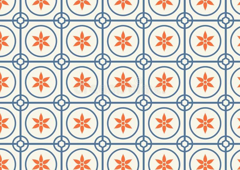 圈子和花纹花样在淡色 皇族释放例证