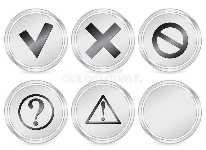圈子图标符号 库存例证