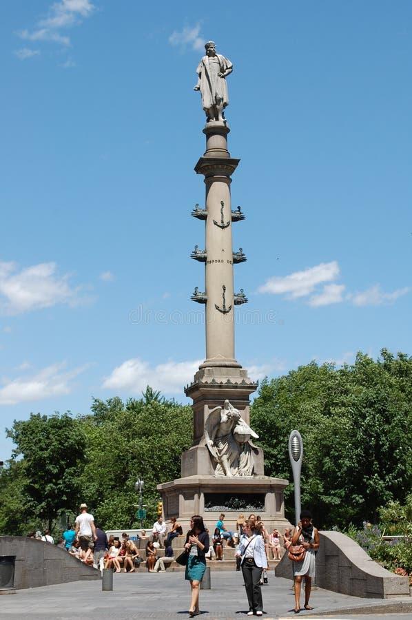 圈子城市哥伦布纽约 免版税库存照片