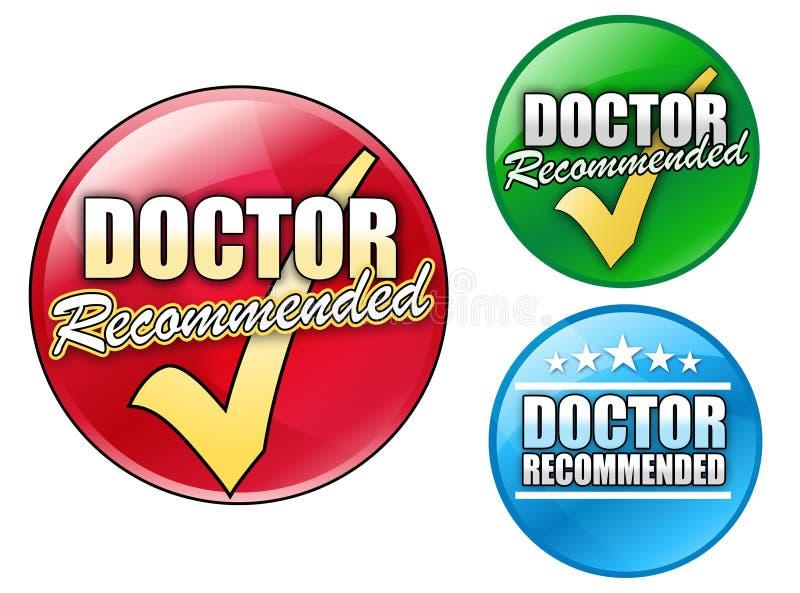 圈子建议使用的医生徽标 向量例证