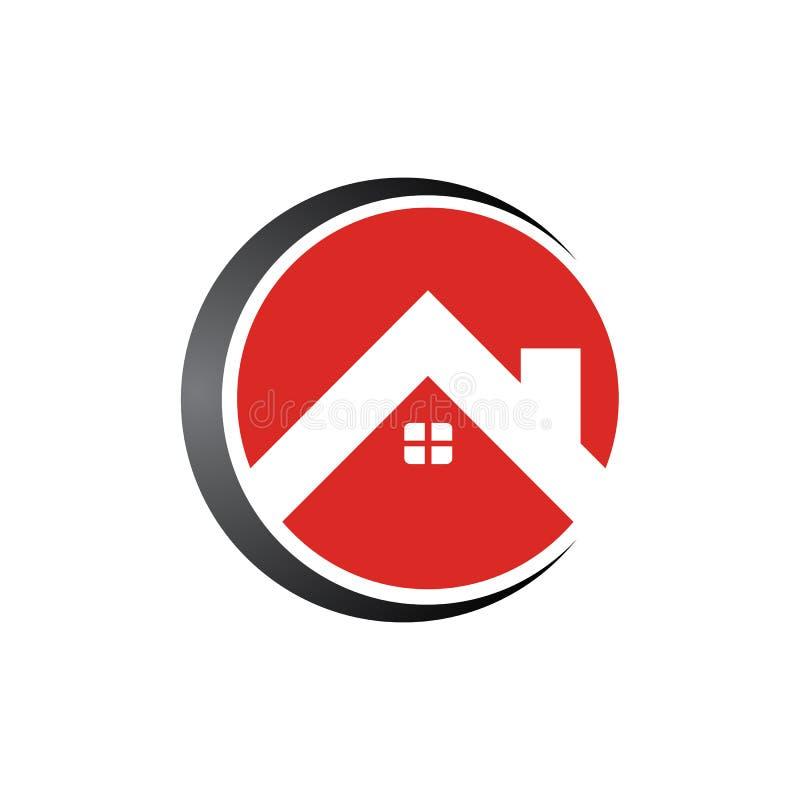 圈子房地产家商标模板设计传染媒介例证 库存例证