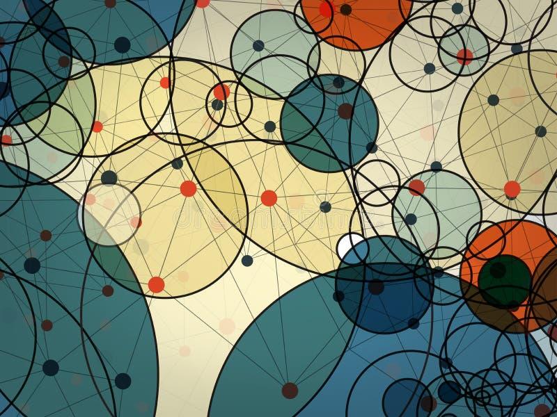 圈子技术抽象传染媒介背景  库存例证