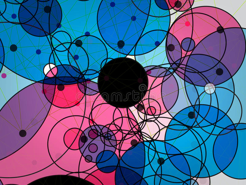 圈子技术抽象传染媒介背景  向量例证